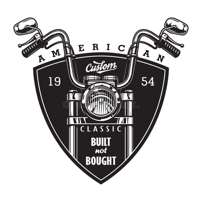 Kundenspezifisches amerikanisches Motorradlogo der Weinlese stock abbildung
