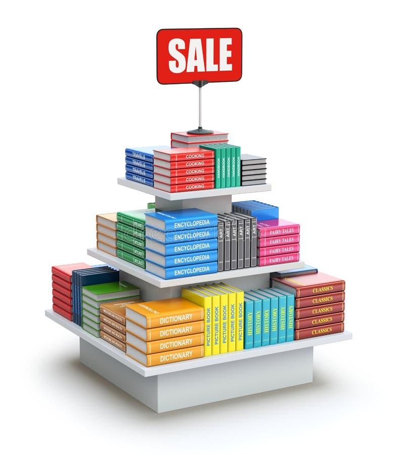 Kunder av den begagnade bokmarknaden royaltyfri illustrationer