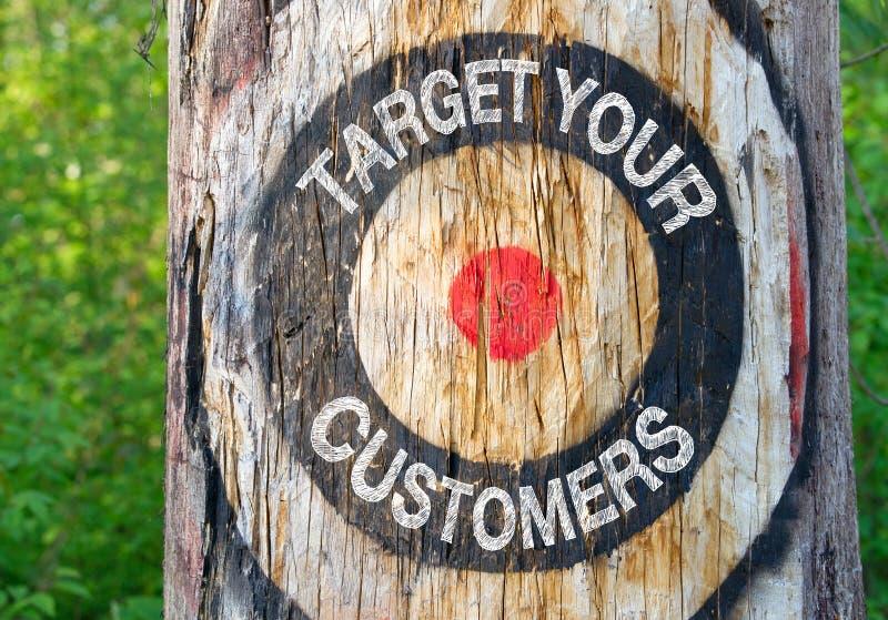 kunder target ditt royaltyfria bilder