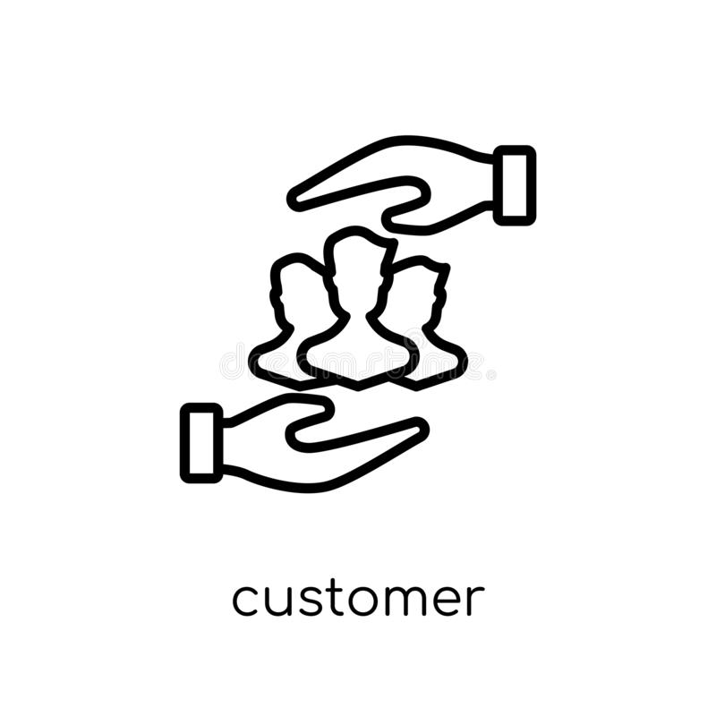 Kundsymbol  royaltyfri illustrationer