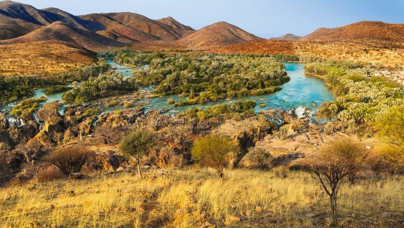 Kunene. Epupa Falls Viewpoint, Kunene River, Namibia stock photo