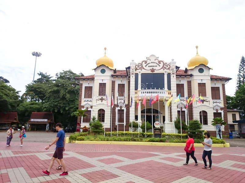 Kungörelsen av självständighetminnesmärken på Melaka royaltyfri foto