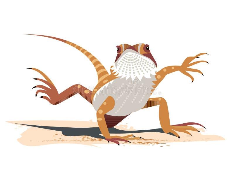 Kung Fu του γενειοφόρου δράκου ελεύθερη απεικόνιση δικαιώματος