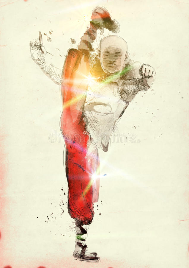 Kung fu royaltyfri foto