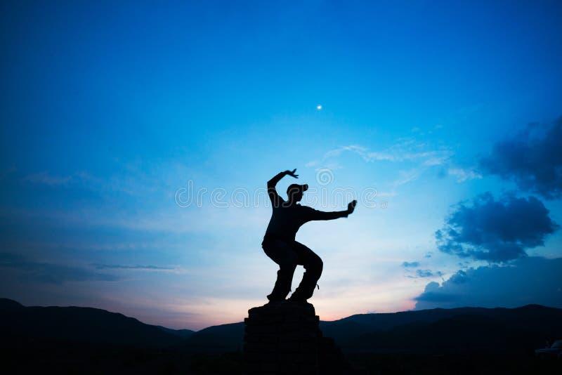 Kung-fu del entrenamiento del arte marcial fotografía de archivo libre de regalías
