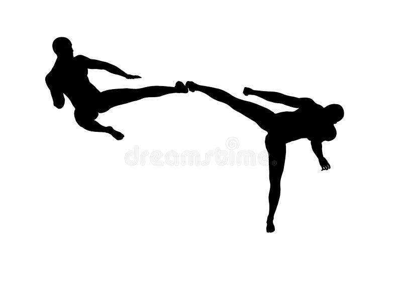 Download Kung Fu Fighting stock illustration. Image of karate, arts - 7632011