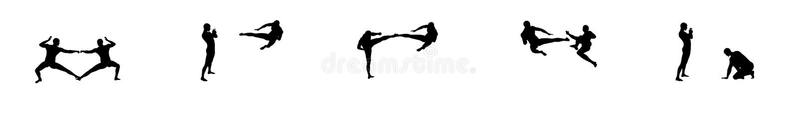 Download Kung Fu Fighting Sequence 2 Stock Illustration - Image: 7632577