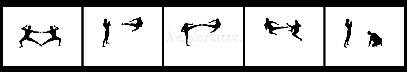 Download Kung Fu Fighting Sequence stock illustration. Illustration of defence - 7632469