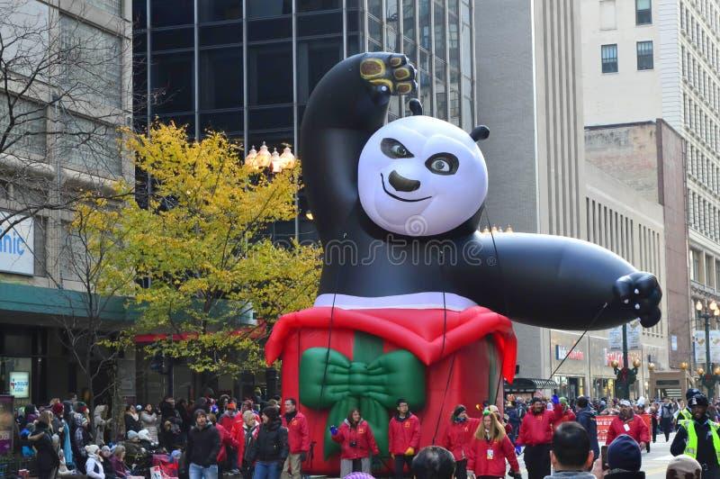 Kung Fu Panda i tacksägelse för McDonald ` s ståtar arkivbild