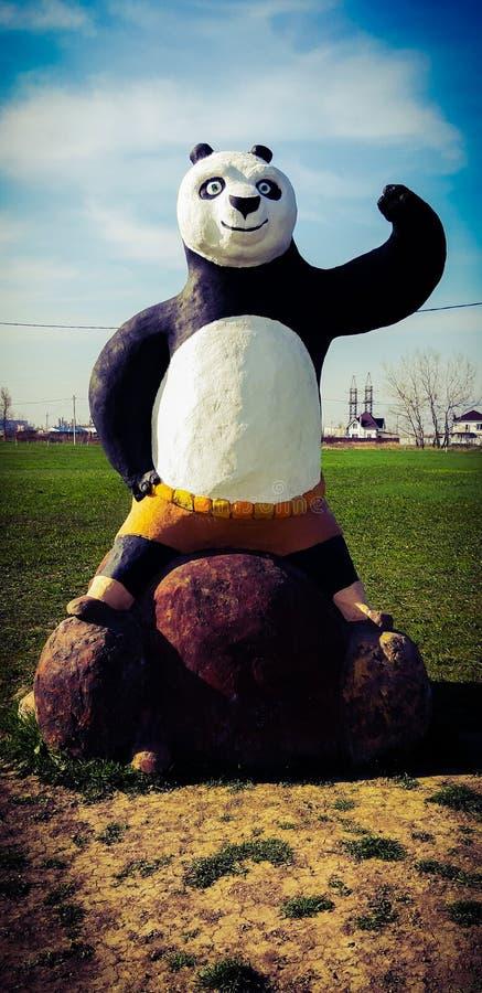 Kung Fu Panda il grande panda, il protagonista e combattente! fotografia stock