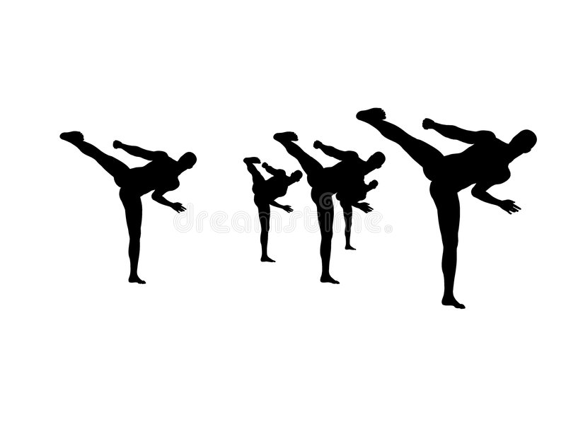 Download Kung Fu Practice 4 stock illustration. Image of shadow - 7615604