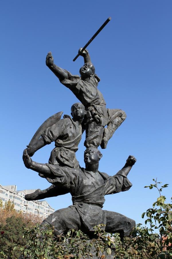 Kung Fu rzeźba obrazy stock