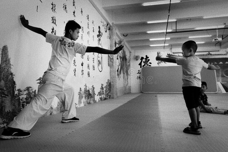 Kung Fu School royaltyfri bild