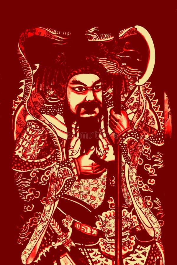 kung kuan de héros chinois mythique illustration de vecteur