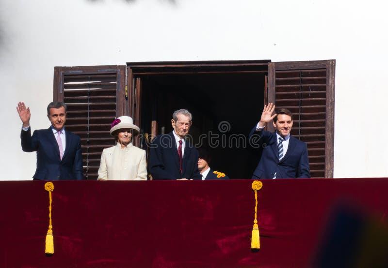 Kungafamiljen av Rumänien arkivbild