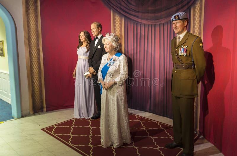 Kungafamiljen (vaxmodellen) royaltyfria bilder