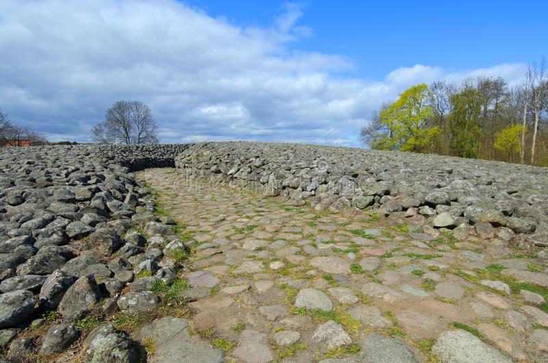 Kungagraven królewiątka ` s grobowiec, Archeologiczny miejsce w Południowym Szwecja obraz stock