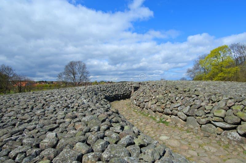 Kungagraven królewiątka ` s grobowiec, Archeologiczny miejsce w Południowym Szwecja zdjęcia stock