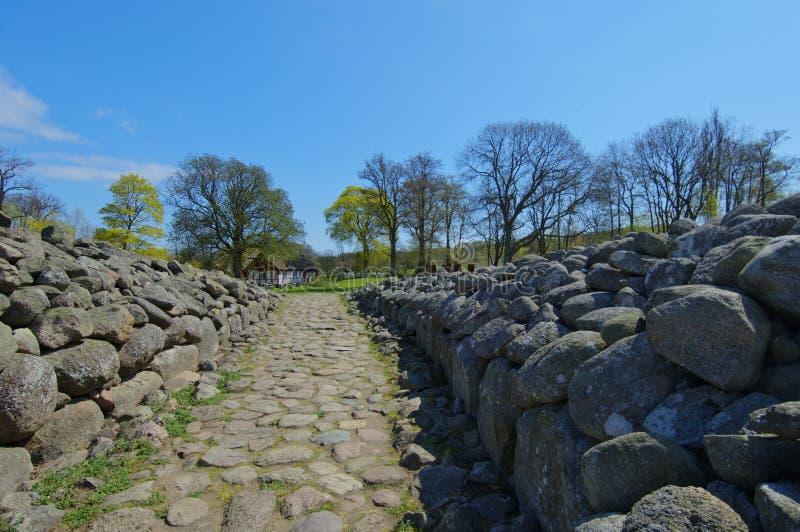 Kungagraven królewiątka ` s grobowiec, Archeologiczny miejsce w Południowym Szwecja obrazy stock