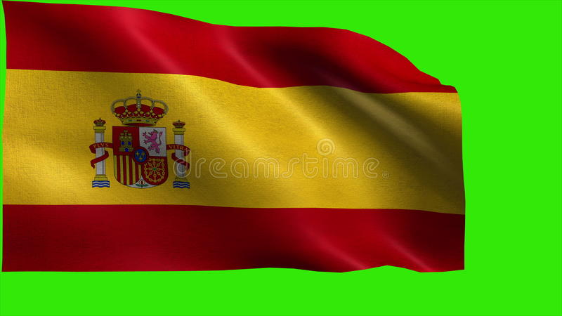Kungarike Av Spanien Flagga Av Spanien Spanjorflagga Ogla Stock Video Video Av Boris Baner 47179397