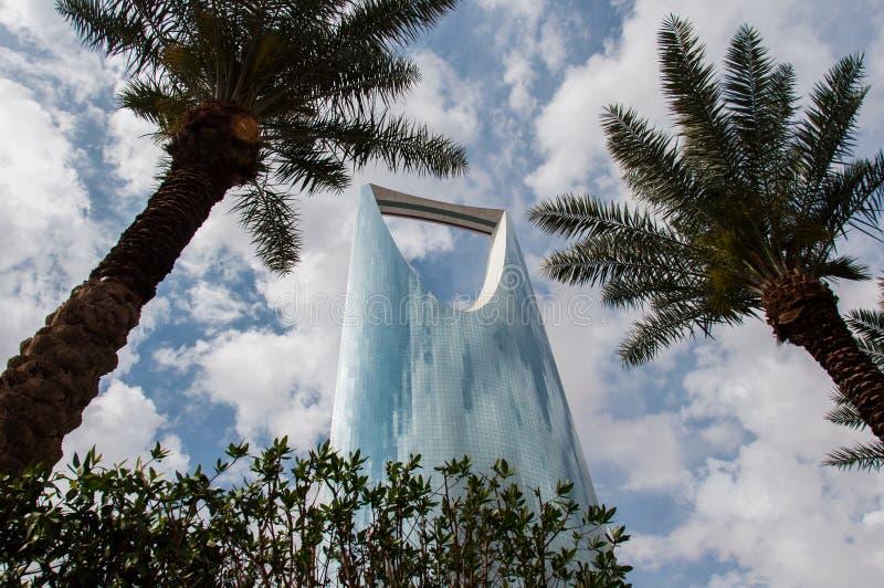 Kungariketorn i mitt av Riyadh, Saudiarabien arkivbilder