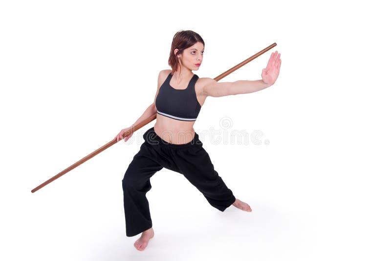 Kungfu Mädchen stockbild