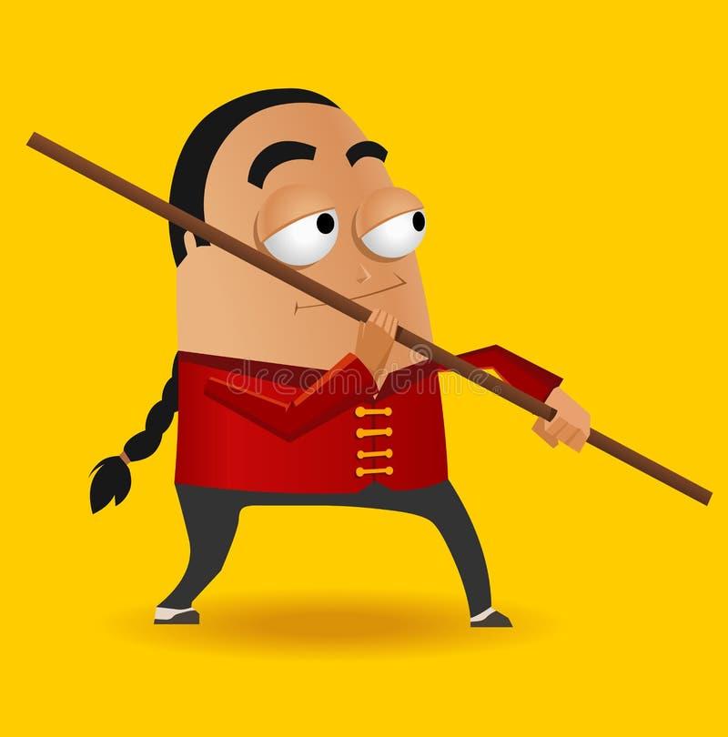 Kungfu mistrz ilustracji