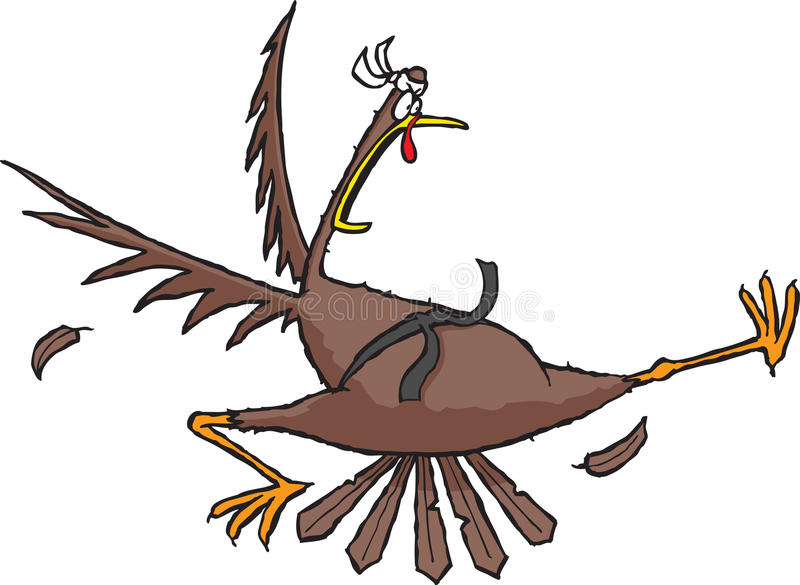 Kungfu Turkije stock illustratie