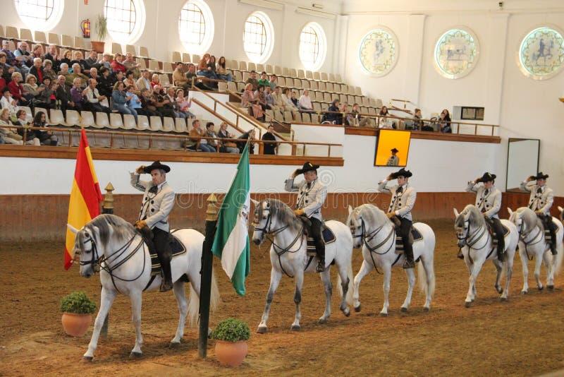 Kunglig Andalusian skola av rid- konst royaltyfri foto
