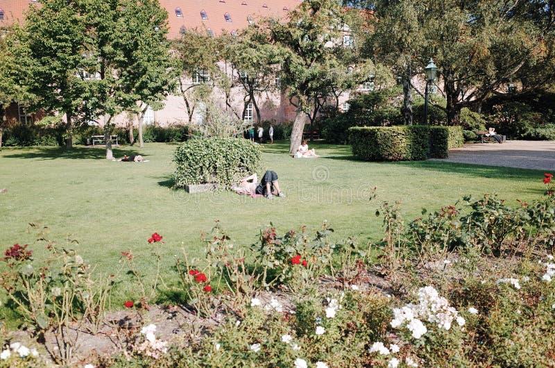 Kunglig arkivträdgård, KÖPENHAMN, DANMARK arkivbild
