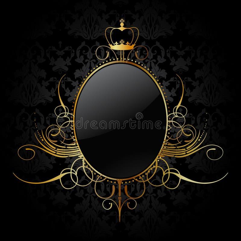 Kunglig bakgrund med guld- inramar. Vektor royaltyfri illustrationer