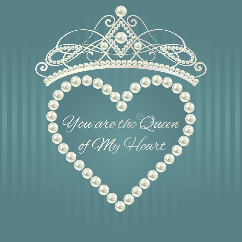 Kunglig designmall Förälskelsevalentinkort royaltyfri illustrationer