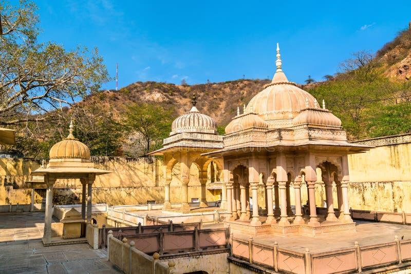 Kunglig Gaitor, en cenotafium i Jaipur - Rajasthan, Indien royaltyfria foton