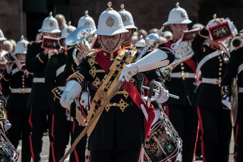 Kunglig marin- musikband av Skottland arkivbild