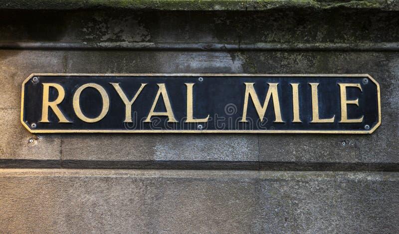 Kunglig mil i Edinburg arkivbilder
