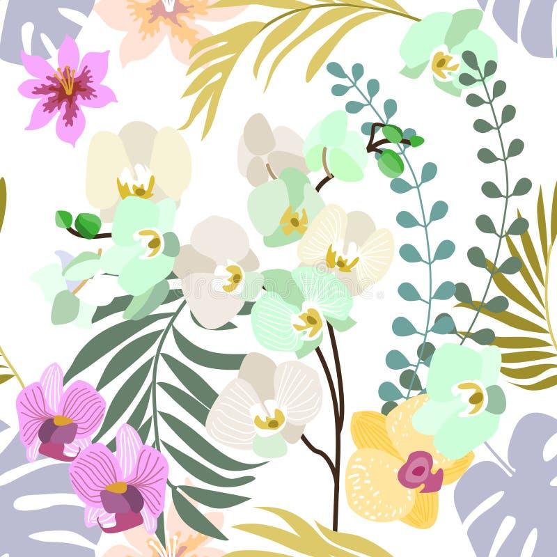 Kunglig orkidéblom stock illustrationer