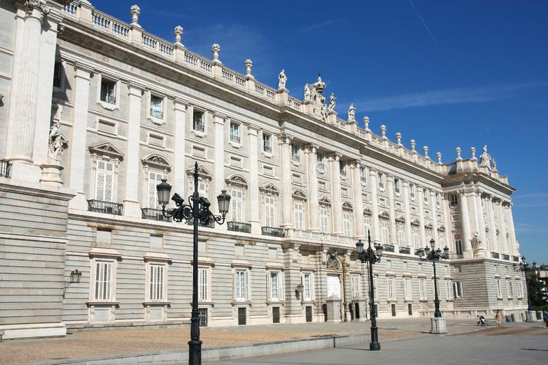 kunglig person spain för palacio för de landmark madrid orienteslott arkivfoto