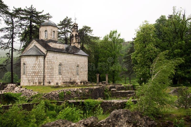 Kunglig personkyrka i Cetinje, Montenegro royaltyfri bild