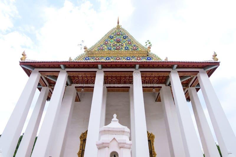 Kunglig prästvigning Hall av Wat Chaloem Phra Kiat Worawihan royaltyfri fotografi