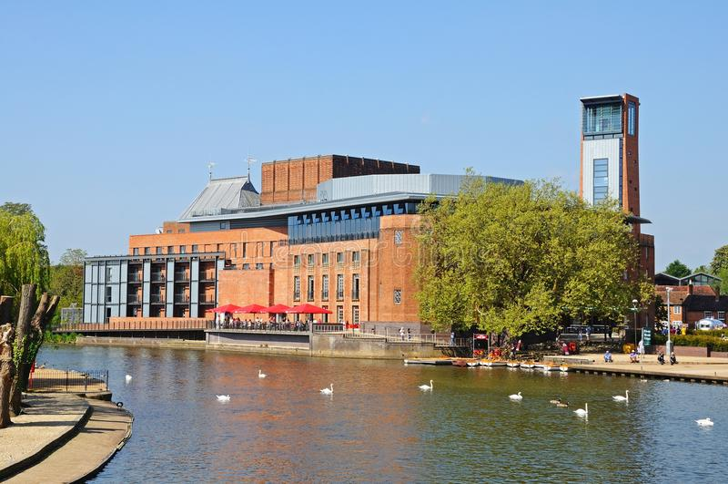 Kunglig Shakespeare teater, Stratford-på-Avon arkivfoto