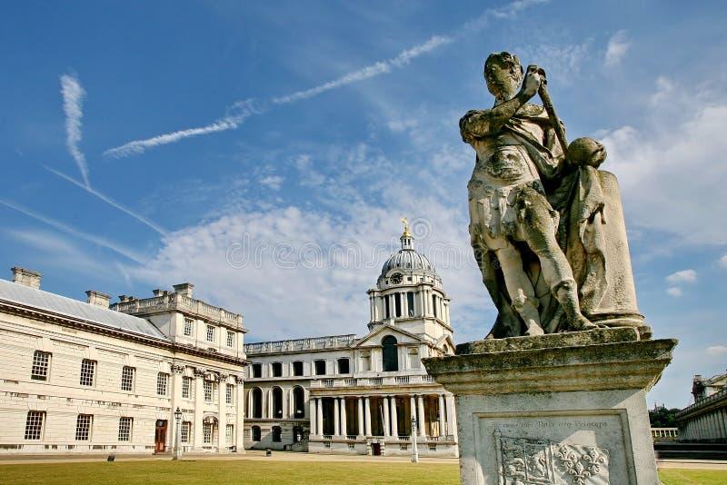 Kunglig sjö- högskola Greenwich arkivbilder