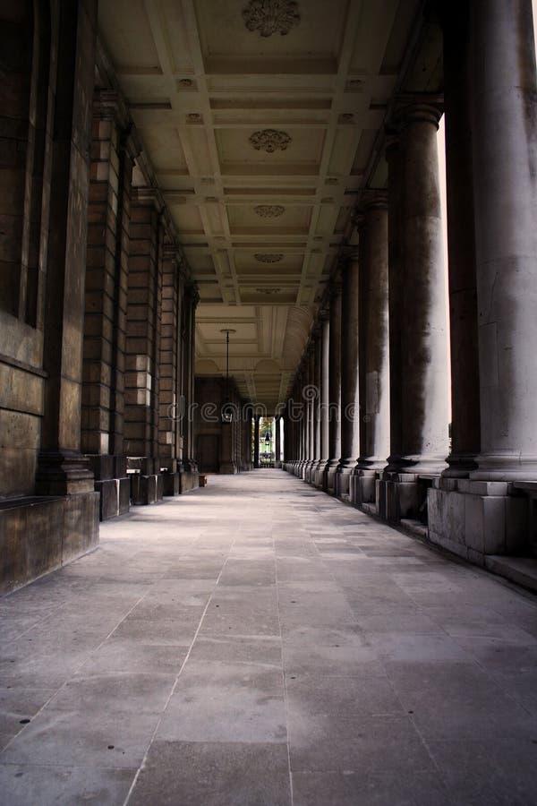 Kunglig sjö- högskola, Greenwich, London, UK arkivfoton