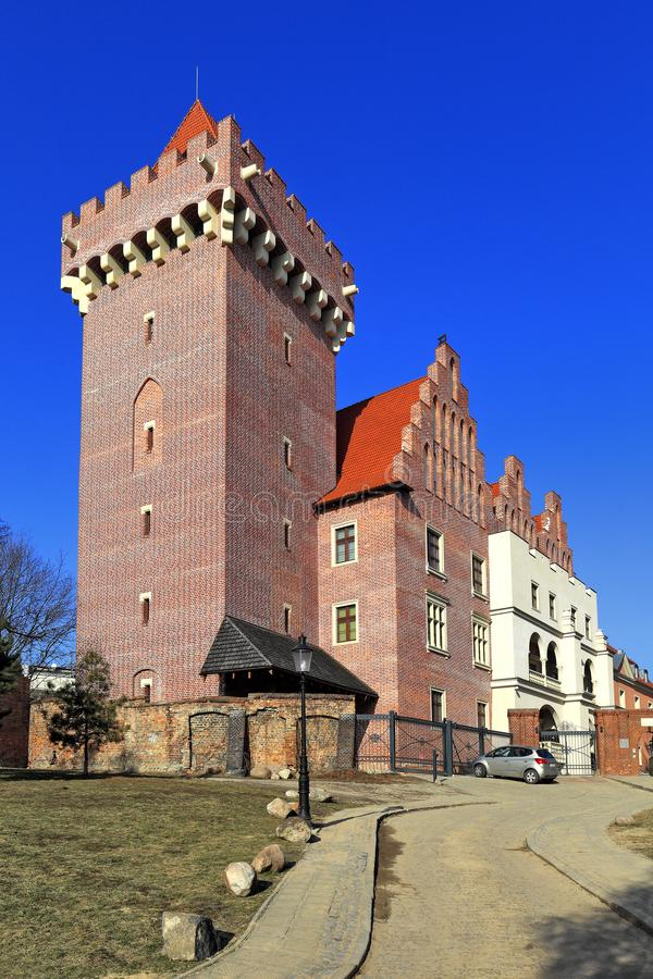 Kunglig slott av hertigen Przemysl II i Poznan, Polen arkivbild