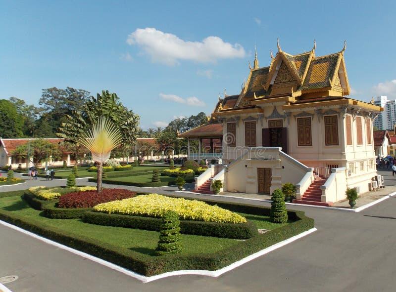 Kunglig slott, Cambodja arkivbild