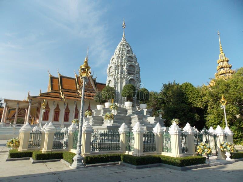 Kunglig slott, Cambodja royaltyfri fotografi