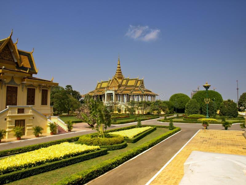 Kunglig slott, Cambodja arkivfoton
