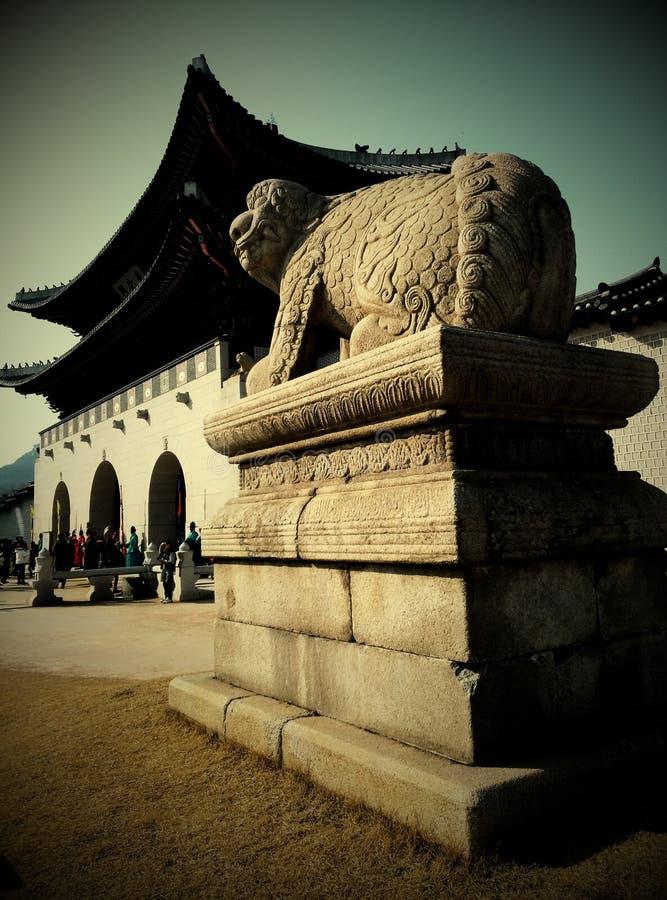 kunglig slott för gyeongbokgung royaltyfria foton