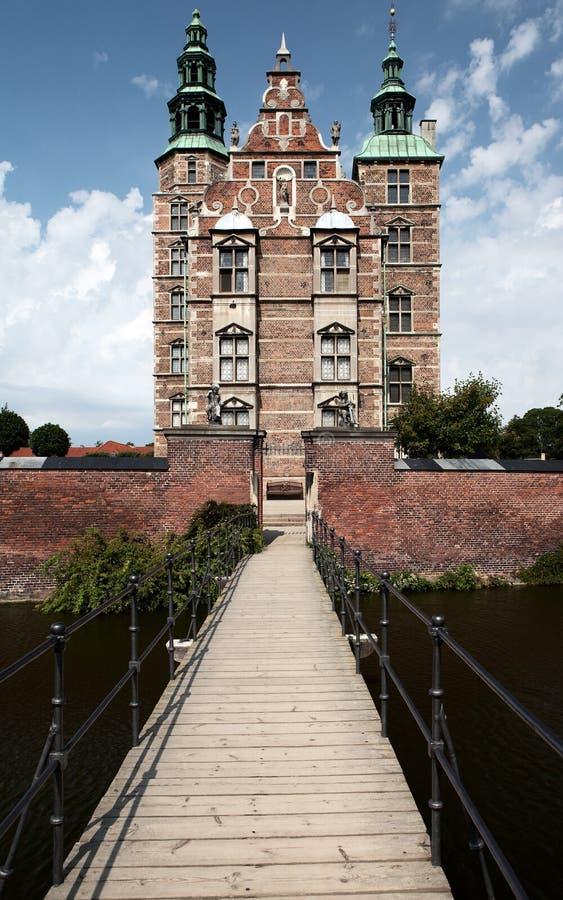 Kunglig slott för Rosenborg slott i Köpenhamnen Danmark royaltyfri fotografi