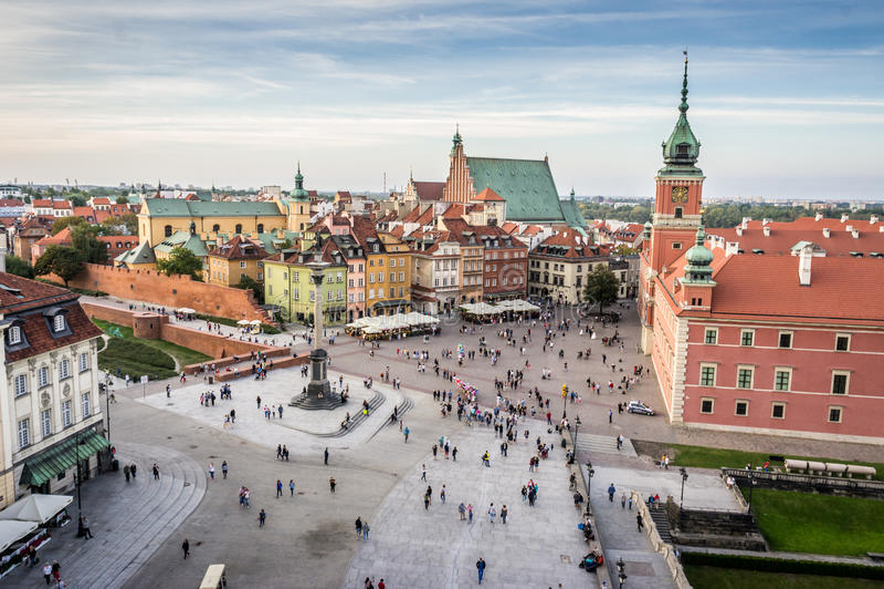 Kunglig slott i den gamla staden, Warszawa arkivbild