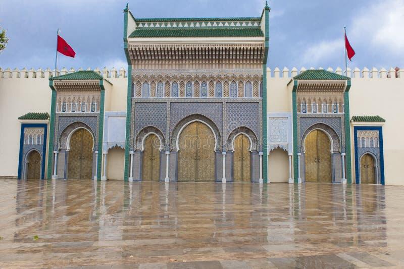 Kunglig slott i Fes, Marocco